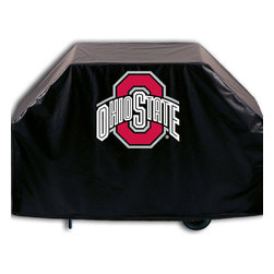 """Holland Bar Stool - Holland Bar Stool GC-OhioSt Ohio State Grill Cover - GC-OhioSt Ohio State Grill Cover belongs to College Collection by Holland Bar Stool This Ohio State grill cover by HBS is hand-made in the USA; using the finest commercial grade vinyl and utilizing a step-by-step screen print process to give you the most detailed logo possible. UV resistant inks are used to ensure exeptional durablilty to direct sun exposure. This product is Officially Licensed, so you can show your pride while protecting your grill from the elements of nature. Keep your grill protected and support your team with the help of Covers by HBS!"""" Grill Cover (1)"""