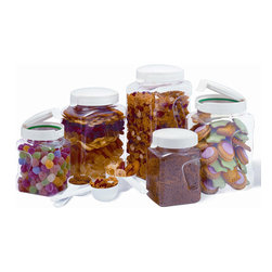 Snapware - Snapware Airtight 10-piece Plastic Canister Set - Store any type of food or treat with this 10-piece plastic canister set from Snapware. Various sizes of canisters complete this set.