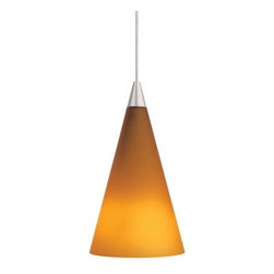 Tech Lighting - Cone Pendant by Tech Lighting - In a contemporary space, the Tech Lighting Cone Pendant provides welcome sleek design and illumination. To accoammodate a wide range of color schemes, it comes in a variety of colorful frosted case glass options with a reflective white interior or in transparent clear glass that reveals the fixture's inner workings. For mounting options, see below. Tech Lighting, headquartered in Skokie, IL, is known for their innovative lighting systems and exquisite lighting designs. Their passion for art, sophistication and imagination is balanced by rigorous testing and quality control in the creation of their line-voltage and low-voltage lighting, including the Tech Lighting FreeJack and monorail systems and track heads.The Cone Pendant is available with the following:Details: