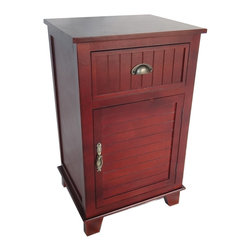 Cheung's - Home Brown Wooden Lockable Storage Side Table With Semi Slatted Drawer - 4 Feet. 1 Drawer. 1 Cabinet with 1 Door .