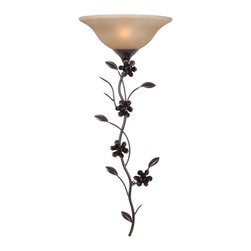 Kenroy Home - Kenroy 32303GFBR Blooms Wallchiere - Let the blooms of magnolia's fill your home with the feel of spring. Branching out from an animated and vine-like shape, the natural looking Blooms are a universally loved design element. At 38 Inchs high, it's easily switched at the cup to illuminate walls with decorative up-lighting.