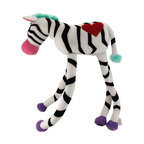 Happy House Long Limbs Moe Plush Zebra - These snuggly buddies are sure to be one of your child`s favorite stuffed friends, they have extra long limbs with velcro so they can be hung from or wrapped around items, and they are great at giving hugs! Made of 100% polyester, the body measures 14 inches long and the legs are 15 inches long. It is machine washable in cold water, and is recommended for children ages 3 and up.