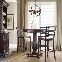 Hooker Furniture - Hooker Furniture Eastridge 42-inch Pedestal Pub Table 5177-75202 - Includes Pub Table only
