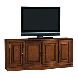 Lexington - Lexington Northport TV Console 165NP-640 - Features infrared Smart Eye which allows for remote control of concealed electronic components and a five outlet surge suppressor. The four doors open to reveal three adjustable shelves, a removable rear panel, cord management, and ventilation. Will accommodate the Sligh StrongArm TV Mount.