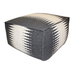 Jiti - Jiti Indoor Connection Charcoal Pouf - Jiti was inspired by Latin and American culture and style. The attraction to the neutral, organic and vibrant colors the earth offers draws JITI to developing the enriching pouf they offer.