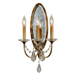 Murray Feiss - Murray Feiss Valentina Traditional Wall Sconce X-ZBO3451BW - This Murray Feiss Valentina Traditional Wall Sconce truly exudes glamour and elegance. Notice the steel frame in an oxidized bronze finish the three lights and accents of glistening drops of crystal. It's a sophisticated piece that's sure to gain praise and admiration from anyone who sees it in your home.