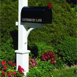 None - Lazy Hill Farm Designs Canterbury Mailbox Post - This handsome mail post is as durable as it is stylish,providing proud service no matter the weather,season after season. It is made of cedar and stained white. This mail box post is of sufficient length to allow for up to a 30-inch burial.