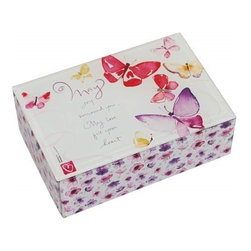 Westland - Pink and Purple Fill Your Heart Music Box Covered with Butterflies - This gorgeous Pink and Purple Fill Your Heart Music Box Covered with Butterflies has the finest details and highest quality you will find anywhere!