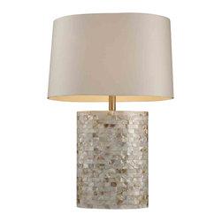 Dimond Lighting - Dimond Lighting D1413 Trump Home Sunny Isles Mother of Pearl Lamp - Dimond Lighting D1413 Trump Home Sunny Isles Mother of Pearl Table Lamp