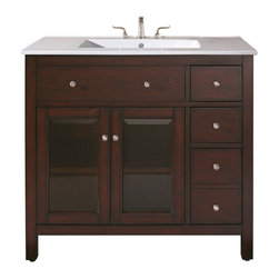 "Avanity - LEXINGTON 36"" Vanity Only (Light Espresso) - LEXINGTON 36"" Vanity Only (Light Espresso)"