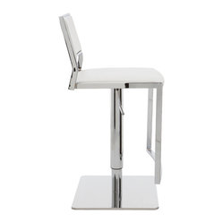 Aaron Adjustable Stool, White, Set of 2