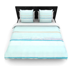 "Kess InHouse - CarolLynn Tice ""Cost"" Blue Aqua Cotton Duvet Cover (Twin, 68"" x 88"") - Rest in comfort among this artistically inclined cotton blend duvet cover. This duvet cover is as light as a feather! You will be sure to be the envy of all of your guests with this aesthetically pleasing duvet. We highly recommend washing this as many times as you like as this material will not fade or lose comfort. Cotton blended, this duvet cover is not only beautiful and artistic but can be used year round with a duvet insert! Add our cotton shams to make your bed complete and looking stylish and artistic!"