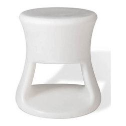 Offi - Offi Tiki Round Top Kids Stool in White (Set of 7) - Designed by Eric Pfeiffer from Pfeiffer Lab - San Francisco, CA. Made from durable rotationally molded polypropylene. 14 in. L x 14 in. W x 15 in. HHave a party inside and out with this organic form inspired by Tiki mugs and barware from the 60's. This versatile product is great for both kids and adults. It's perfect as a side table or stool, with storage capacity.
