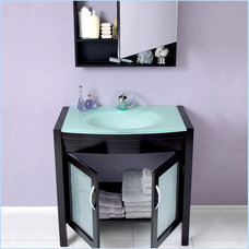 Modern Bathroom Vanities And Sink Consoles Classico Infinito Bathroom Vanity with Medicine Cabinet FVN3301ES