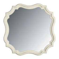 Stanley-Coastal Living - Piecrust Mirror - The unique shape of this Piecrust Mirror from Stanley is quite the crowd pleaser! Much like a homemade piecrust, this beveled edge mirror improves everything around it. Fashioned of poplar and select hardwoods, this decorative mirror will be enjoyed for years to come. Scalloped edges and a subtle sand dollar finish create a shabby-chic style that gives this piece a laid-back coastal feel. This beautiful beveled mirror will brighten any room, making it the perfect accent piece for your home!