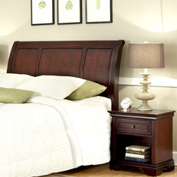 None - Layfayette King/California King Headboard and Nightstand Set - Add a stylish touch to your bedroom with this king/california king headboard and night stand. A luxurious cherry finish completes this set.