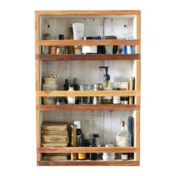Reclaimed Apothecary Cabinet - For all your modern-day magic potions (we're talking lotions, toners, and sweet-smelling soaps), this cabinet has an old-school quality we can't get enough of. Made of reclaimed cypress wood that's resistant to splitting and warping, it's perfectly at home in high-humidity areas like a bathroom.