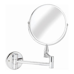 Croydex - Small Round Magnifying Mirror - QA103041YW - Manufacturer SKU: QA103041YW. Professional Range. Chrome Finish. X 2 Magnifying Factor. Adjustable are and mirror tilt function allows greater flex. 5.9 inches in diameter. 8.07 in. W x 1.18 in. L x 11.02 in. HA comprehensive range of bathroom accessories that is ideal for commercial applications such as hotels and housing developments. The stylish design compliments any bathroom setting and the range covers everything from towel racks and toilet roll holders to bottle openers and washing lines for over the bath!
