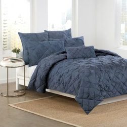 Dkny - DKNY Diamond Tuck Quilt in Sapphire - You'll see why diamonds a girl's best friend with the Diamond Tuck quilt. This luxurious bedding is sumptuously soft and features a sophisticated diamond pattern that adds a stately grace to any décor.