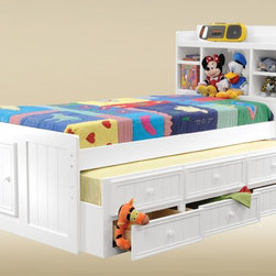 Twin Size Combo Trundle with 3 Drawers in Optional Finish -