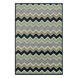 Loloi Rugs - Loloi Rugs Oasis Navy-Multi Contemporary Indoor / Outdoor Rug X-A5B3LMVN60-SOISA - Boldly designed and brightly colored, our Oasis Collection transforms any outdoor space into a modern patio paradise.This collection is power loomed in Egypt, ensuring precision in color and design for each and every piece. And because the 100% polypropylene yarns are specially tested to withstand UV rays and rain, it's the perfect all-weather rug.