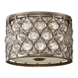 Murray Feiss - 2 Bulb Burnished Silver Flushmount - - UL Dry Approved.