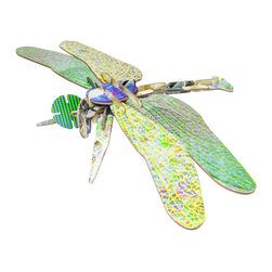 OOTS! - Totem: Dragonfly Cardboard Toy - It's the perfect, no-mess project. Simply piece together the beautifully textured cardboard pieces to create a cute dragonfly. Kids will have fun creating it and you'll love the clean up!