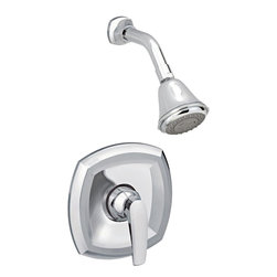American Standard - American Standard T005.501.002 Copeland Shower Only Trim Kit, Oil Rubbed Bronze. - This American Standard T005.501.002 Copeland Shower Only Trim Kit is part of the Copeland collection, and comes in a beautiful Chrome finish. This valve only trim kit features a metal wall escutcheon, a metal lever handle, an adjustable 3-function shower head, a shower arm, and a flange.