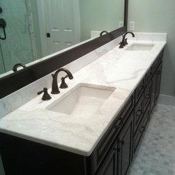 Calacatta Gold Marble Vanity - Calacatta gold marble vanity