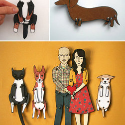 Personalized Paper Doll by Jordan Grace Owens - Here's how this works: you provide a photo of you and your loved ones, and an Etsy artist creates custom paper dolls. These would make a lovely Valentine's Day gift, and they would look so cool framed.