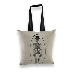 Zeckos - Portrait of Mr. Bones Skeleton Mini Pillow 10 In. Halloween Decor - This accent pillow features a portrait of the sophisticated Mr. Bones, and it adds a wonderful accent to your home for Halloween. The cover is cotton, it is stuffed with polyester, and it measures 10 inches by 10 inches. It has a 1 1/2 inch satin ribbon hanger so you display it hanging on a door, or you can display it on the sofa or your favorite chair. Recommended care instructions are to spot clean, only.