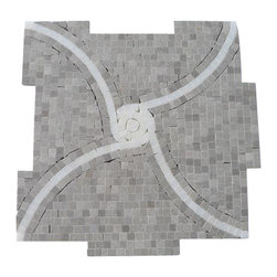 """Windmill Gray and China White Marble Tile - Windmill Gray and China White Marble Tile This hand-made micro marble mosaic was handlely single cut by hand and will provide endless design possibilities from contemporary to classic. It creates a great focal point to suit a variety of settings. Color: Gray and White Material: Gray and China White Finish: Polished Sold by the Sheet- each sheet measures 12""""x12"""" (1 sq.ft.) Thickness: 10mm Please note each lot will vary from the next."""
