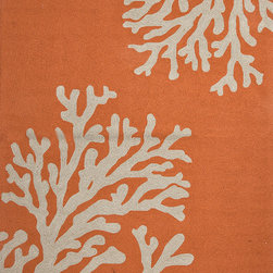Jaipur Rugs - Abstract Pattern Red /Orange Indoor/ Outdoor Rug - GD01, 2x3 - Boldly scaled designs and a sun drenched color palette punctuate the Grant Design Indoor-Outdoor Collection. Designed by the Atlanta-based design firm Grant Design Collaborative, these nature-inspired patterns bring a sense of fun and intrigue to any living space. Crafted in durable hand-hooked polypropylene, the playful collection is designed to handle the elements of the outdoors but has the design moxie to hold its own within any indoor space.
