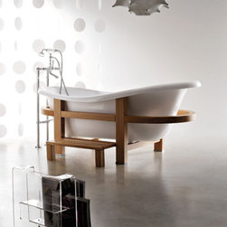 Spa@Home Epoca Bathtub by WS Bath Collection - This beautiful tub is classic yet modern, has an eclectic flair yet an Asian simplicity. It can fit into just about any design style, and it looks as relaxing as all get out.