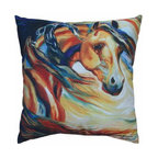WL - 16 x 16 Inch Multicolored Wind Horse Design Sofa Pillow - This gorgeous 16 x 16 Inch Multicolored Wind Horse Design Sofa Pillow has the finest details and highest quality you will find anywhere! 16 x 16 Inch Multicolored Wind Horse Design Sofa Pillow is truly remarkable.