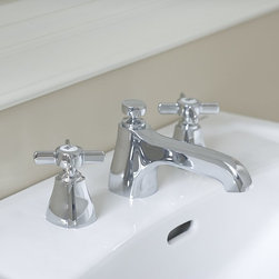 Toto Guinevere Widespread Faucet - This classic faucet will really work well in a vintage bathroom design.