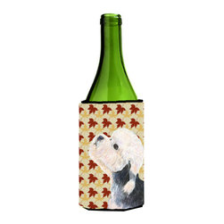 Caroline's Treasures - Dandie Dinmont Terrier Fall Leaves Portrait Wine Bottle Koozie Hugger - Dandie Dinmont Terrier Fall Leaves Portrait Wine Bottle Koozie Hugger Fits 750 ml. wine or other beverage bottles. Fits 24 oz. cans or pint bottles. Great collapsible koozie for large cans of beer, Energy Drinks or large Iced Tea beverages. Great to keep track of your beverage and add a bit of flair to a gathering. Wash the hugger in your washing machine. Design will not come off.