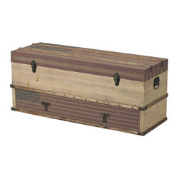 Sterling Industries - Sterling Industries 138-083 National-Wooden Storage Trunk w/ Drawer - Trunk (1)