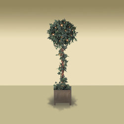 Balsam Hill - Set of 2 Balsam Hill Potted Ivy Globe Artificial Topiary Tree - Clear - Decorate your home with potted artificial Ivy Globe Topiary tree. This set comes with two 4 feet topiary tree, glistening with clear lights. Balsam Hill�s mission is to create the world�s most beautiful and realistic artificial Christmas trees.� We are committed to providing our customers with a picture-perfect holiday.� With innovations like hinged branches and options like remote-controlled pre-strung lights, our luxurious trees will let you sit back and enjoy Christmas to the fullest, this year and for years to come.� Balsam Hill�s trees have won awards for their realism and have been featured in movies, television shows, and celebrity homes; you and your guests may not believe that your gorgeous Balsam Hill Christmas tree is artificial.� Our wide range of styles and sizes ensures you will be able to find a tree that fits perfectly in your home.� We also have a range of beautiful wreaths and garlands to put the finishing touches on your home this holiday season.