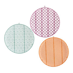 Holly & Martin - Holly & Martin Welms Wall Art, Set of 3 - Variety is the spice of life! Our Welms Wall Art breathes life into drab walls with intricate textures and mood-lifting colors. The lightly curved design playfully nods to hanging plates for a modern wall. Hang the spheres together for a lively statement, or separate for added brightness throughout your home.