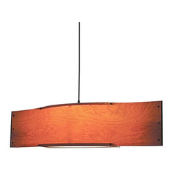 "Shiner - Shiner Fin Veneer Chandelier, Red Oak - Modern, eco-friendly furnishings made in Atlanta, Georgia. Our goal is to transform tons of landfill-destined materials into killer designs. By building pieces out of disposable elements, we refine the future by upcycling the past. Everything from the steel, hardwoods, and cardboard to our lexan and linen is diverted from the incinerator. We strive to make every piece knock-down for ease of shipping with less environmental impact. The Fin Veneer Chandelier is made of wood veneer in Birch, Red Oak or Walnut and measures 45.5""Lx10""Wx11.75""H."