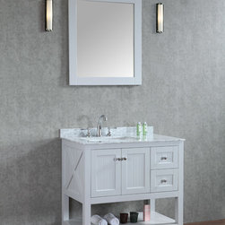 "New 36"" Emily Bathroom Vanity Light Grey or White - New Emily 36"" Bathroom Vanity - White or Light Grey"