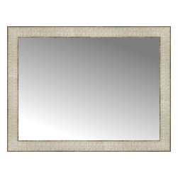 """Posters 2 Prints, LLC - 26"""" x 20"""" Libretto Antique Silver Custom Framed Mirror - 26"""" x 20"""" Custom Framed Mirror made by Posters 2 Prints. Standard glass with unrivaled selection of crafted mirror frames.  Protected with category II safety backing to keep glass fragments together should the mirror be accidentally broken.  Safe arrival guaranteed.  Made in the United States of America"""