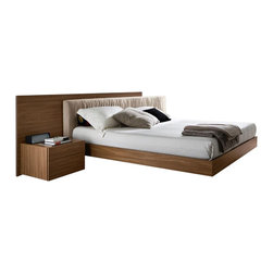 Rossetto - Edge Walnut Bed by Rossetto USA - Features: