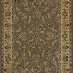 """Royal RY-04 Slate Rug - 11'3""""x15' - Royal is an elegant collection of traditional designs in a power-loomed construction of soft polypropylene. Old world motifs adorn these densely plush pieces that will add a rich touch to any dcor."""