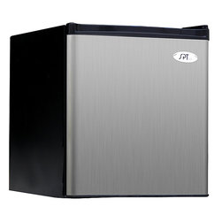 SPT - Stainless Compact 20-inch Energy Star Refrigerator - Couple convenience and functionality with this 20-inch compact refrigerator by Energy Star. Perfect for offices and dorm rooms, this versatile refrigerator features a door rack, adjustable thermostat, and separate chamber for making ice.