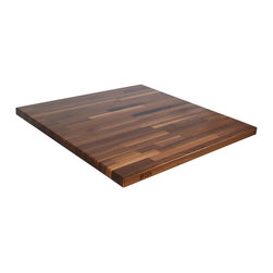 """John Boos - 1.5"""" Thick Blended Walnut Countertop - 32""""W - Black walnut butcher block counters are among the most popular for their beauty and function. Made to order by John Boos. Standard sizes and custom sizes."""