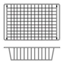 Houzer - Houzer Quartztone WT-3500 Over the Sink Wire Tray - Houzer kitchen accessory Quartztone Stainless Steel WireCraft Bottom Grid
