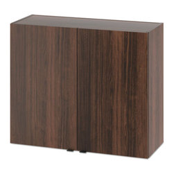 "HON - HON Hospitality Wall Cabinet, Two Doors, 36""x14""x30"", Columbian Walnut - Ideal for dishes, glassware or beverage supplies, this wall cabinet comes fully assembled and ready to install with mounting bracket included. Robust construction with metal-to-metal fasteners and wood dowels for a solid feel and lasting performance. High-quality, chrome-plated European door hinges; self-closing mechanisms are designed to keep doors shut and neatly aligned when not in use. Storage flexibility with adjustable center shelf."