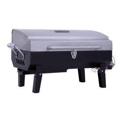 Char-Broil - Char-Broil Stainless Steel Gas Tabletop Grill Multicolor - 465640212 - Shop for Grills from Hayneedle.com! The Char-Broil Stainless Steel Gas Tabletop Grill is a dependable grill that's perfect for the making a few quick burgers in the kitchen or grilling a full meal out on a family camping trip! This portable unit boasts 200 square inches of cooking space and handy features like an easy-to-use pushbutton ignition and slide-out grease tray for easy cleanup. Made entirely of corrosion-resistant stainless steel this grill will last you through countless meals to come. The Char-Broil Stainless Steel Gas Tabletop Grill measures 24.75W x 14.7 inches overall. Some assembly is required.About Char-BroilChar-Broil is a widely known producer of premium outdoor cooking products ranging from the finest stainless steel outdoor grills to the equally important spatula. Each of their products is crafted with care and precision keeping in mind the exacting standards of their customers. Their products span a huge array of selection and price ranges; chances are they've got a product with you in mind.Founded in 1948 Char-Broil's vast product line includes just about every kind of cooking apparatus imaginable. Whether it's barbecue straight grilling smoking or frying products you're looking for or a nice outdoor fireplace you can't go wrong with a Char-Broil.